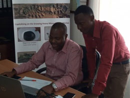 Jackson (Senior Accountant) and Mshana (Administration Assistant) in the Dar es Salaam office